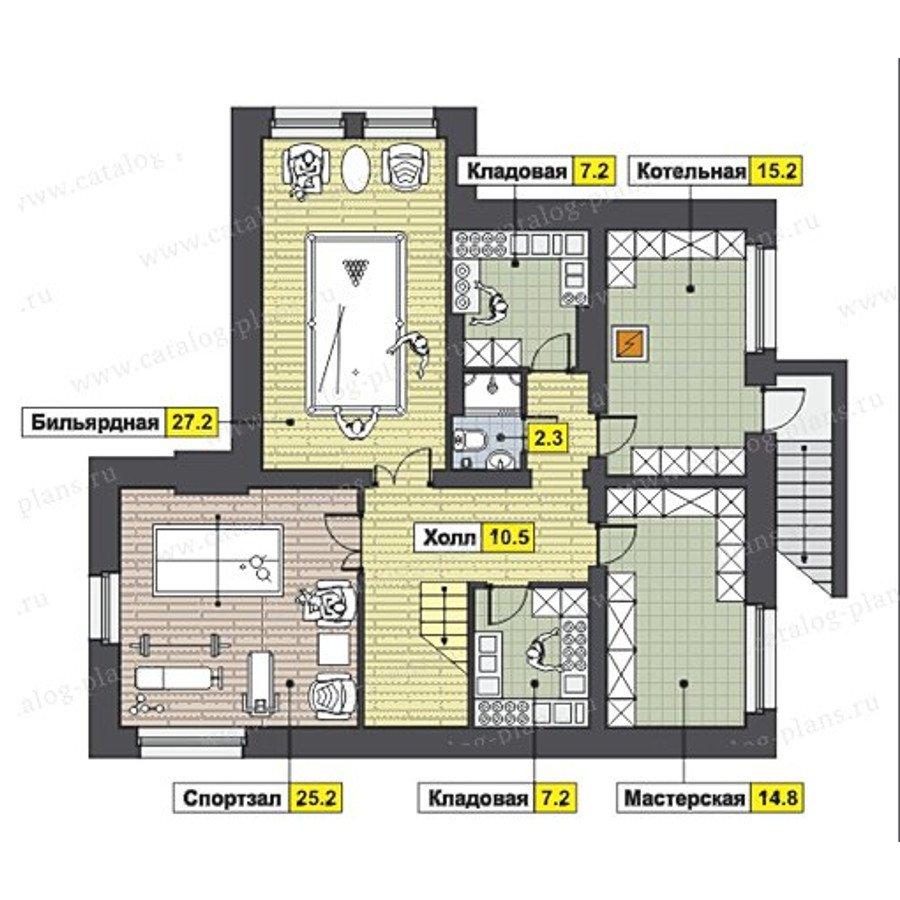 План 1-этажа проекта 47-46A