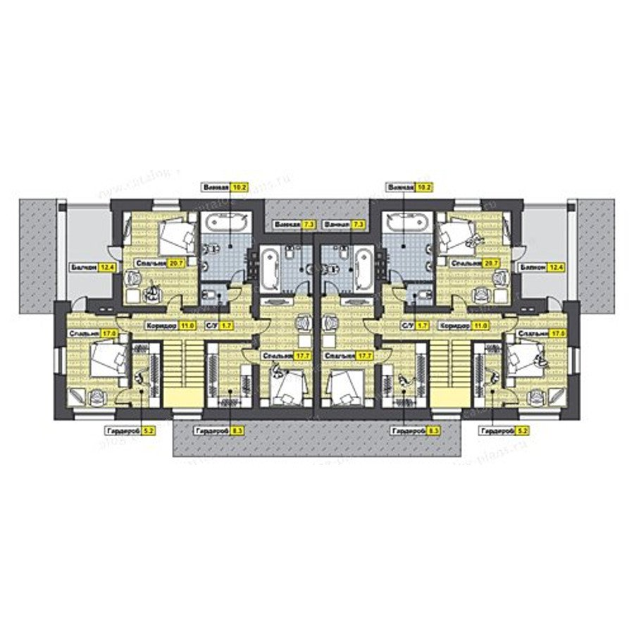 План 2-этажа проекта 47-46B