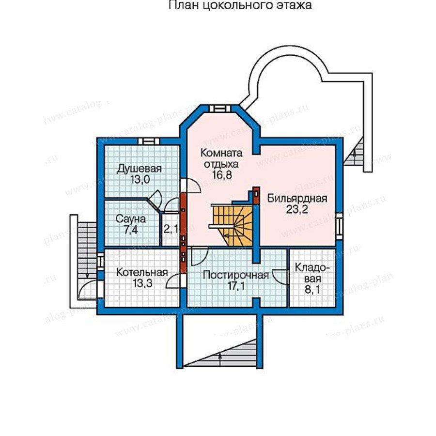 План 1-этажа проекта 60-34