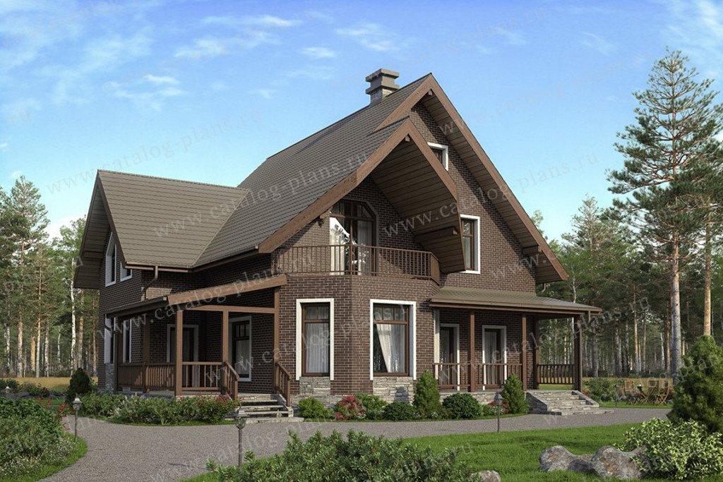 Проект жилой дом #40-05L материал - кирпич, стиль немецкий