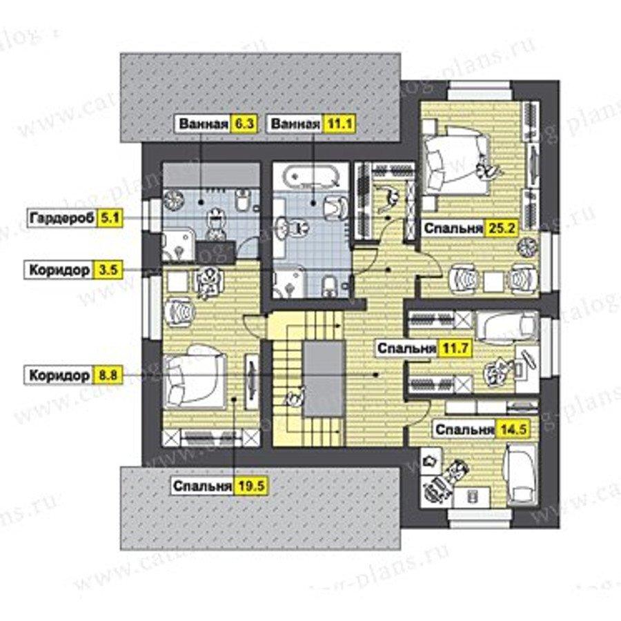 План 2-этажа проекта 47-45