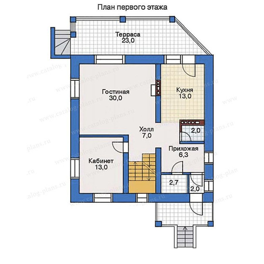 План 2-этажа проекта 32-30