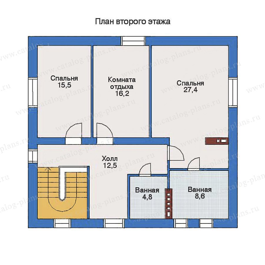 План 3-этажа проекта 33-30