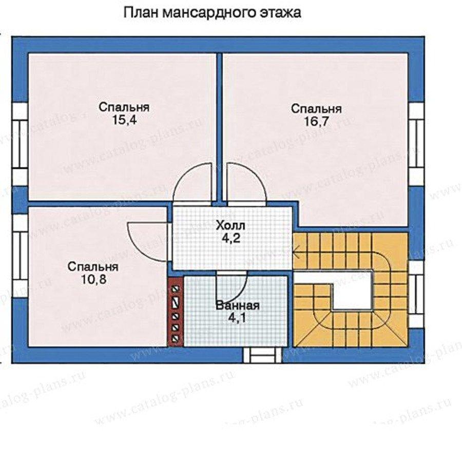 План 3-этажа проекта 35-68