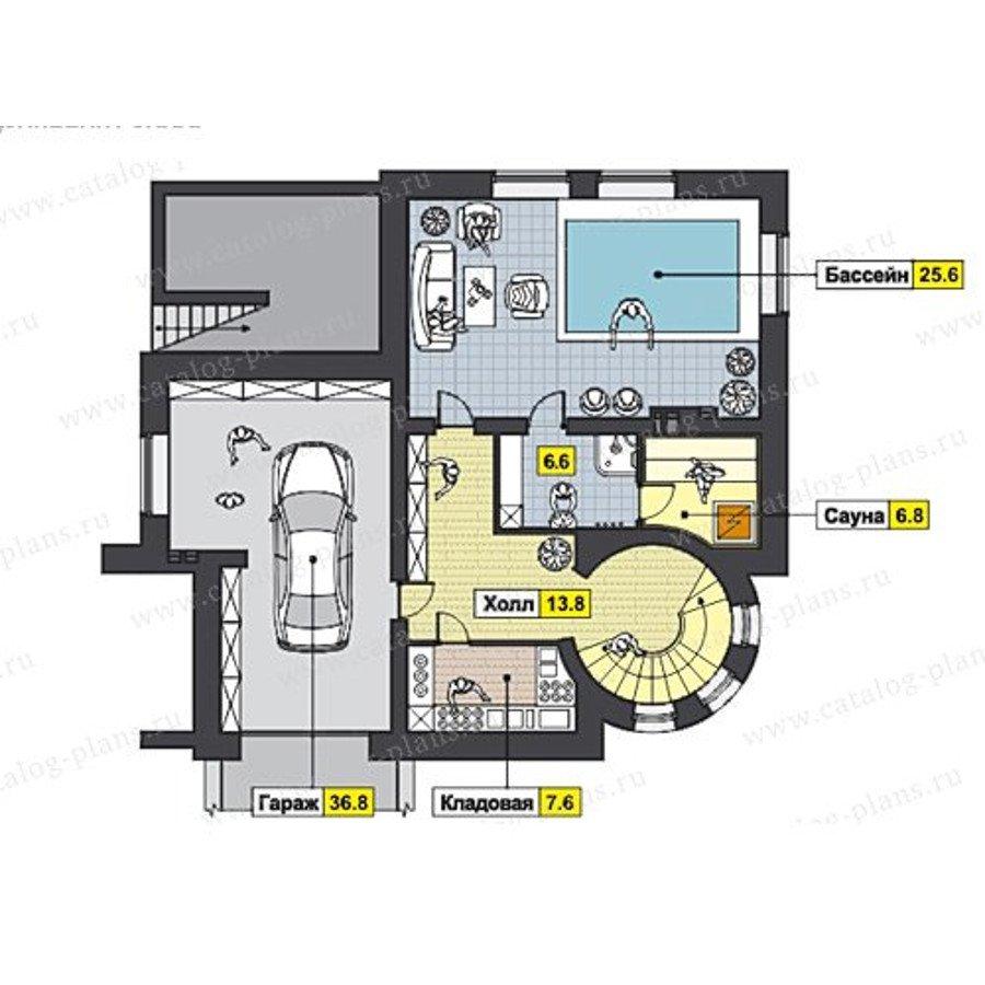 План 1-этажа проекта 47-47