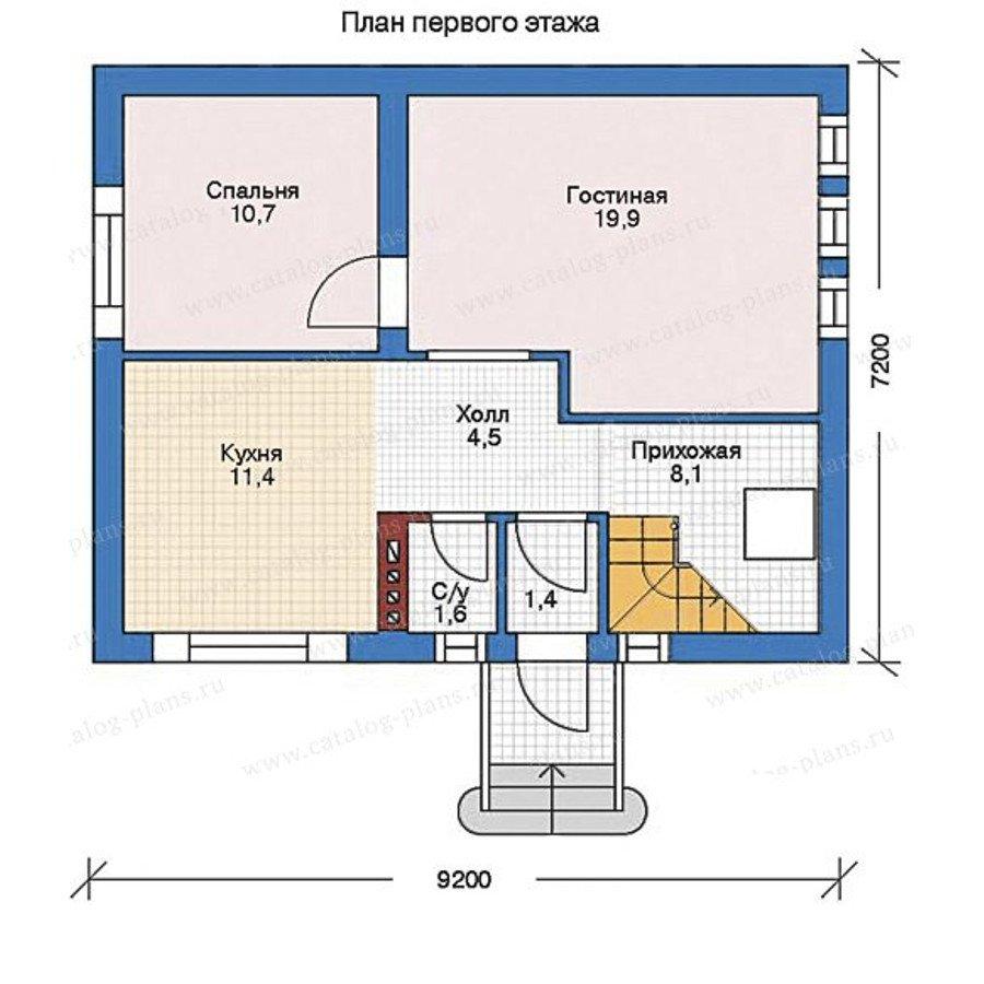 План 2-этажа проекта 35-68