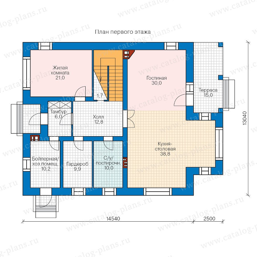 План 1-этажа проекта 47-39
