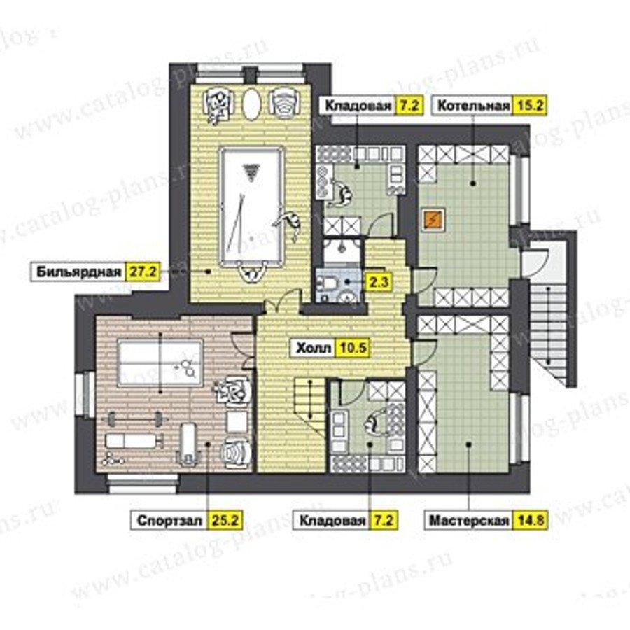 План 3-этажа проекта 47-46