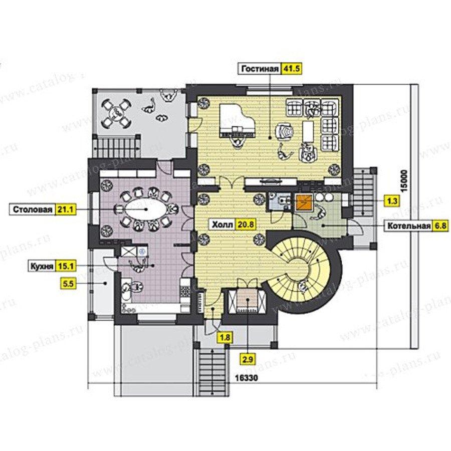 План 2-этажа проекта 47-47