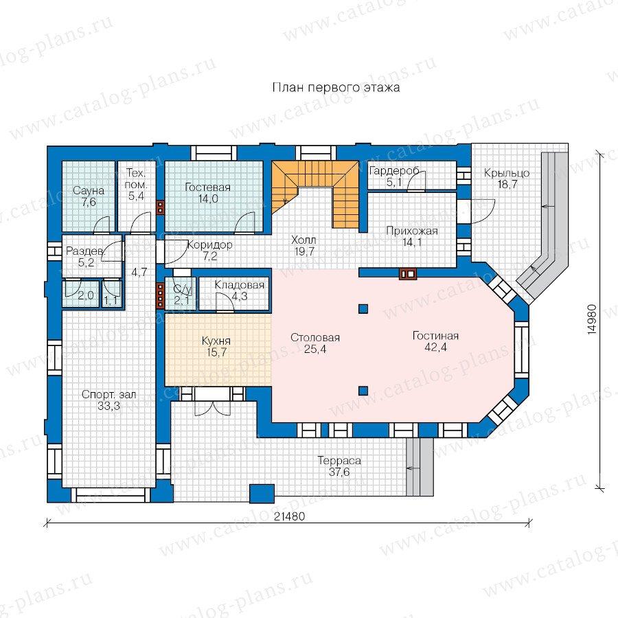 План 1-этажа проекта 47-38