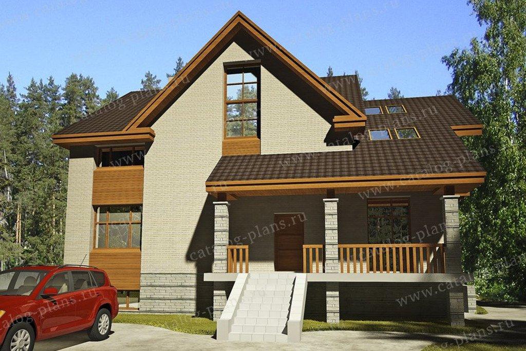 Проект жилой дом #47-46 материал - кирпич, стиль современный