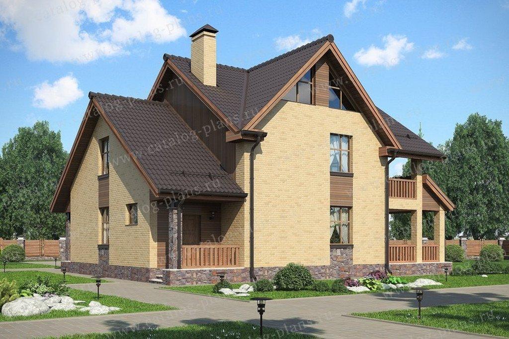 Проект жилой дом #47-46G материал - газобетон, стиль современный
