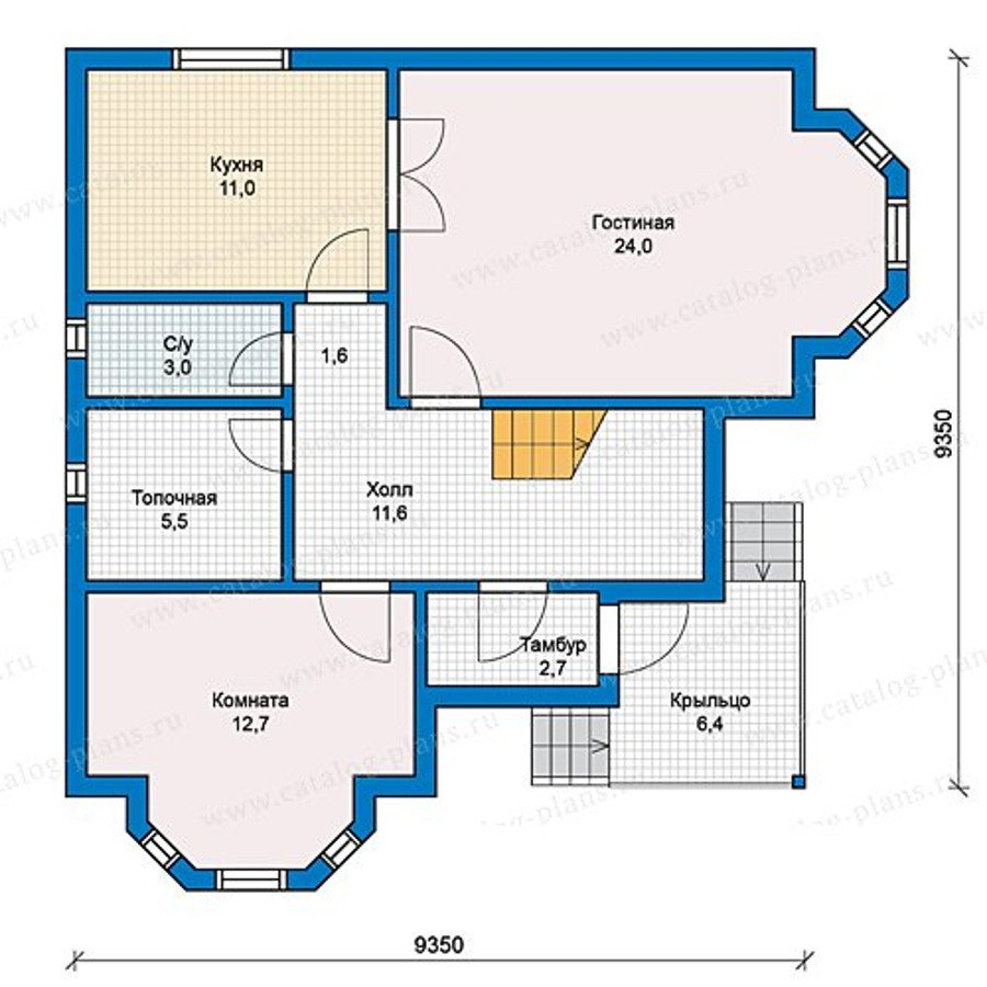 План 1-этажа проекта 13-16