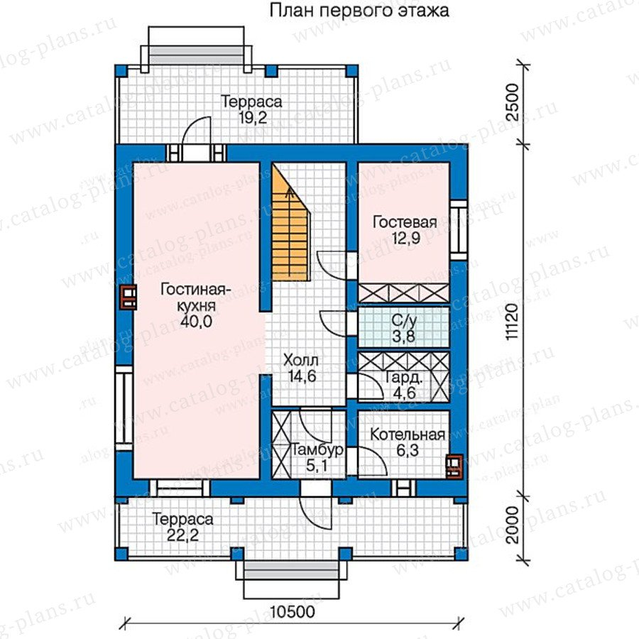 План 1-этажа проекта 47-44