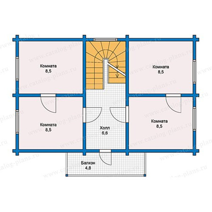 План 2-этажа проекта 13-13