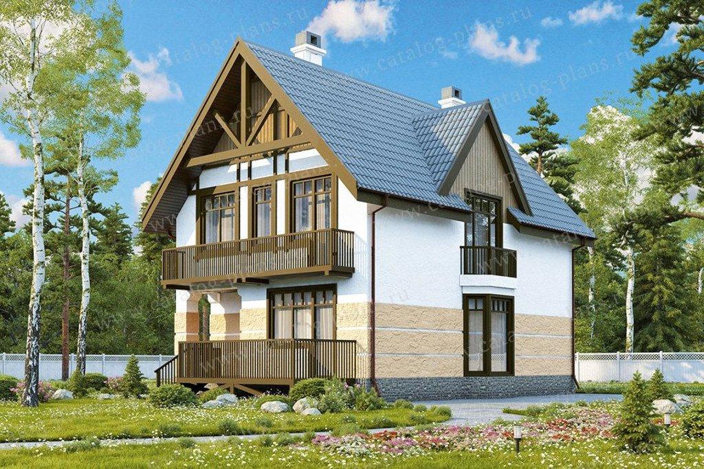 Проект жилой дом #47-42 материал - кирпич, стиль европейский