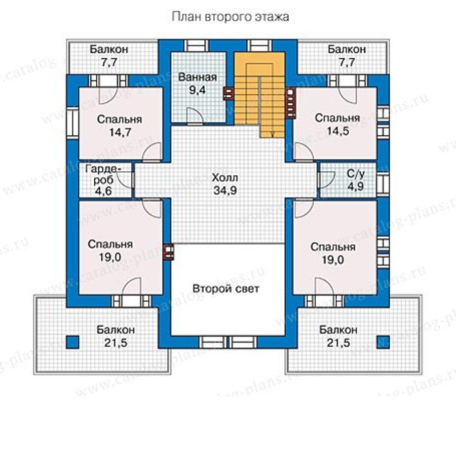 Проект двухэтажного кирпичного дома с мансардой 40-09l в ска.