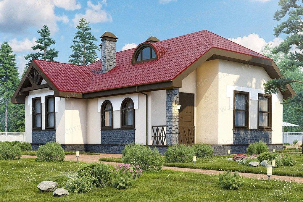 Проект жилой дом #47-43 материал - кирпич, стиль европейский