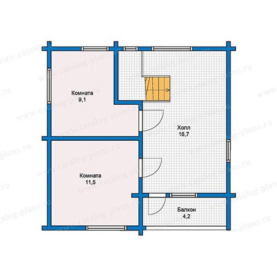 План 2-этажа проекта 13-14