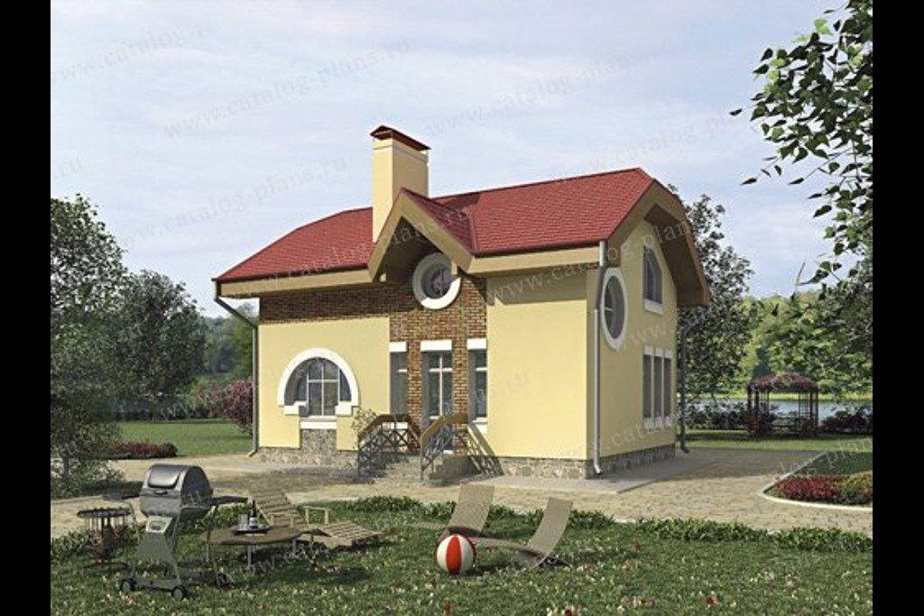 Проект жилой дом #35-68 материал - кирпич, стиль современный модерн