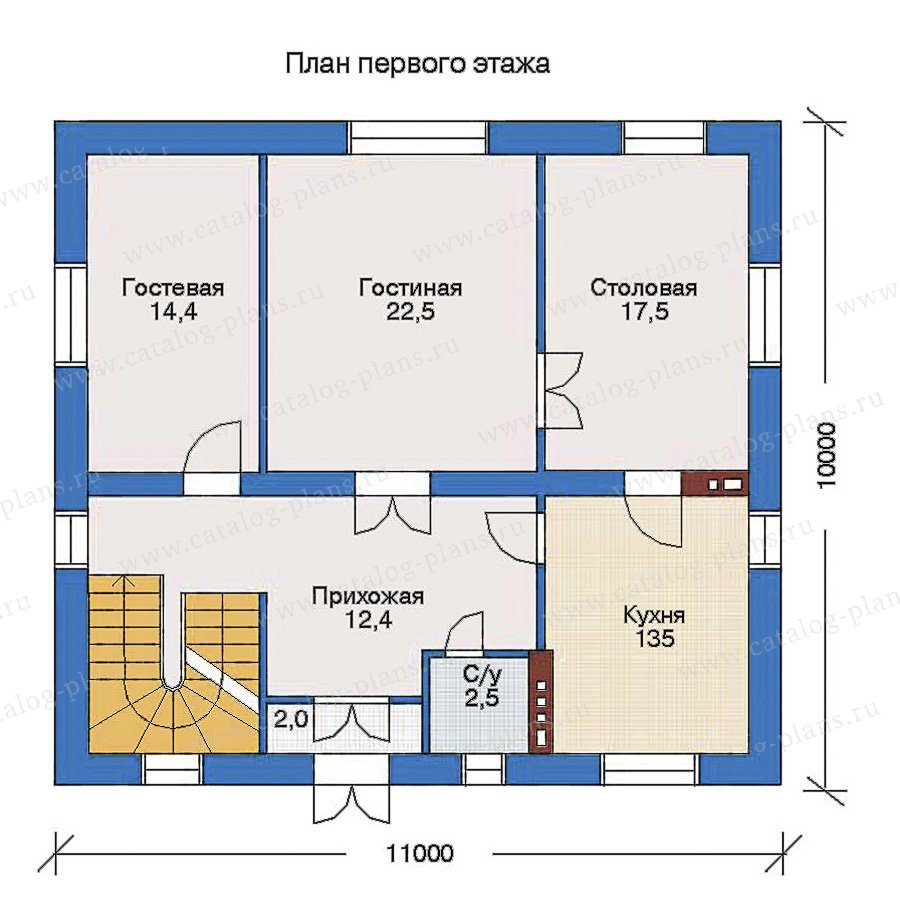 План 2-этажа проекта 33-30