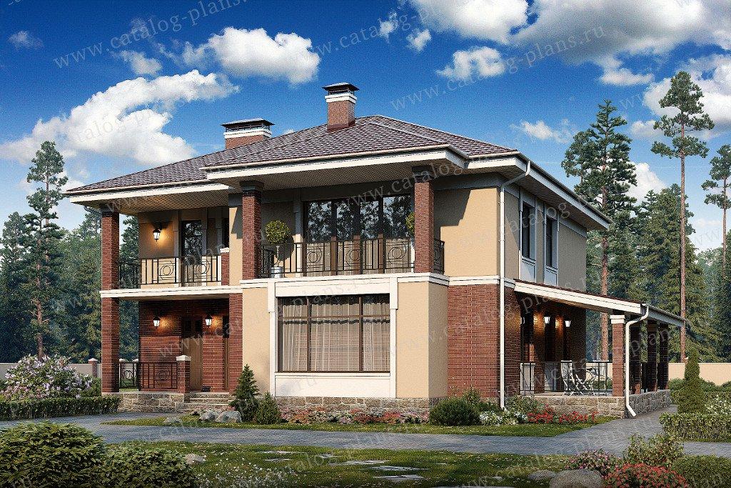 Проект жилой дом #40-17 материал - кирпич, стиль современный