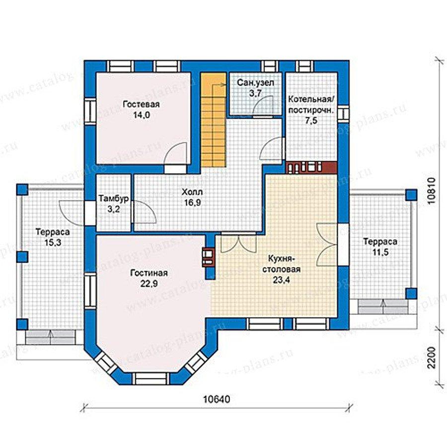 План 1-этажа проекта 40-16KL