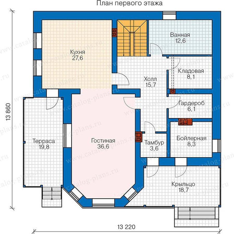 План 1-этажа проекта 40-05AG