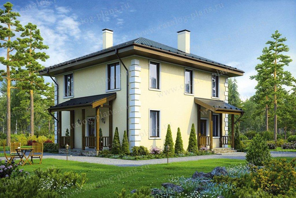 Проект жилой дом #40-04G материал - газобетон, стиль европейский