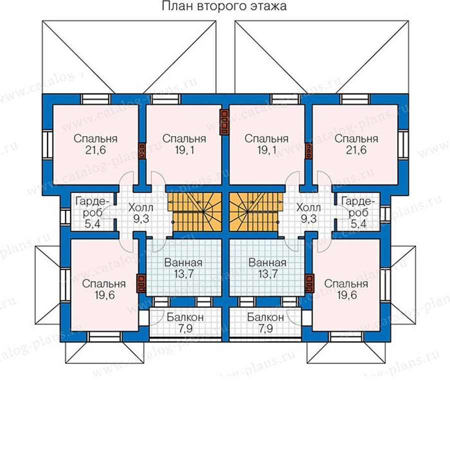 План 2-этажа проекта 48-34G