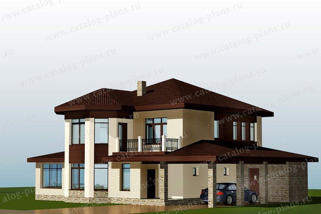 Проект жилой дом #70-57 материал - газобетон, стиль европейский