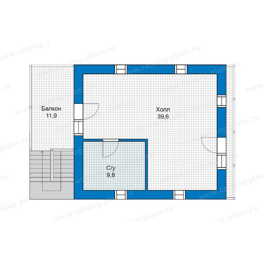 План 3-этажа проекта 48-18G