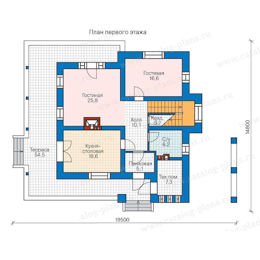 План 1-этажа проекта 47-54