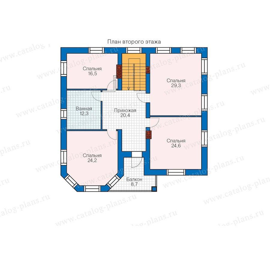 План 2-этажа проекта 48-32G