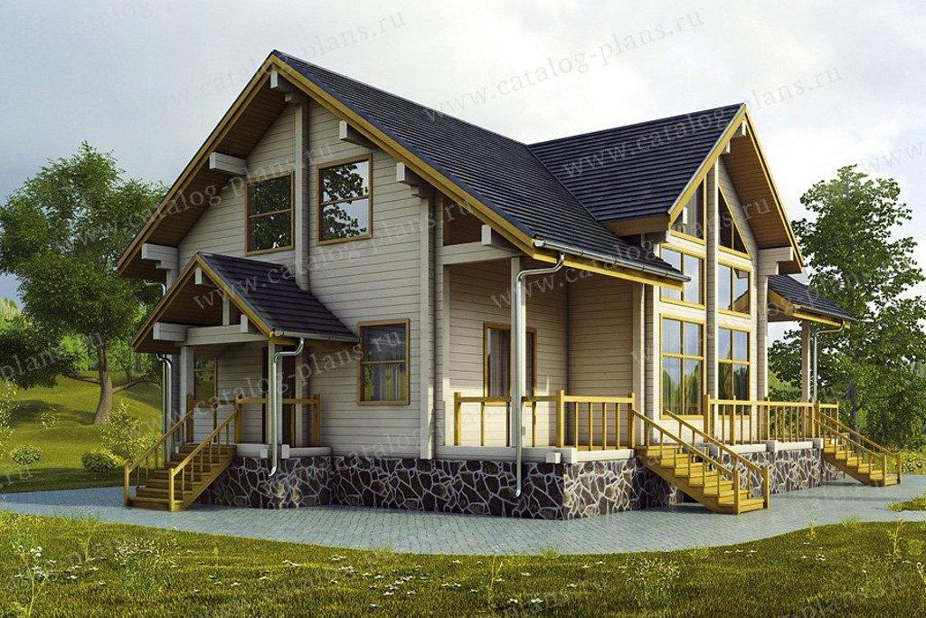 Проект жилой дом #13-38 материал - дерево, стиль скандинавский