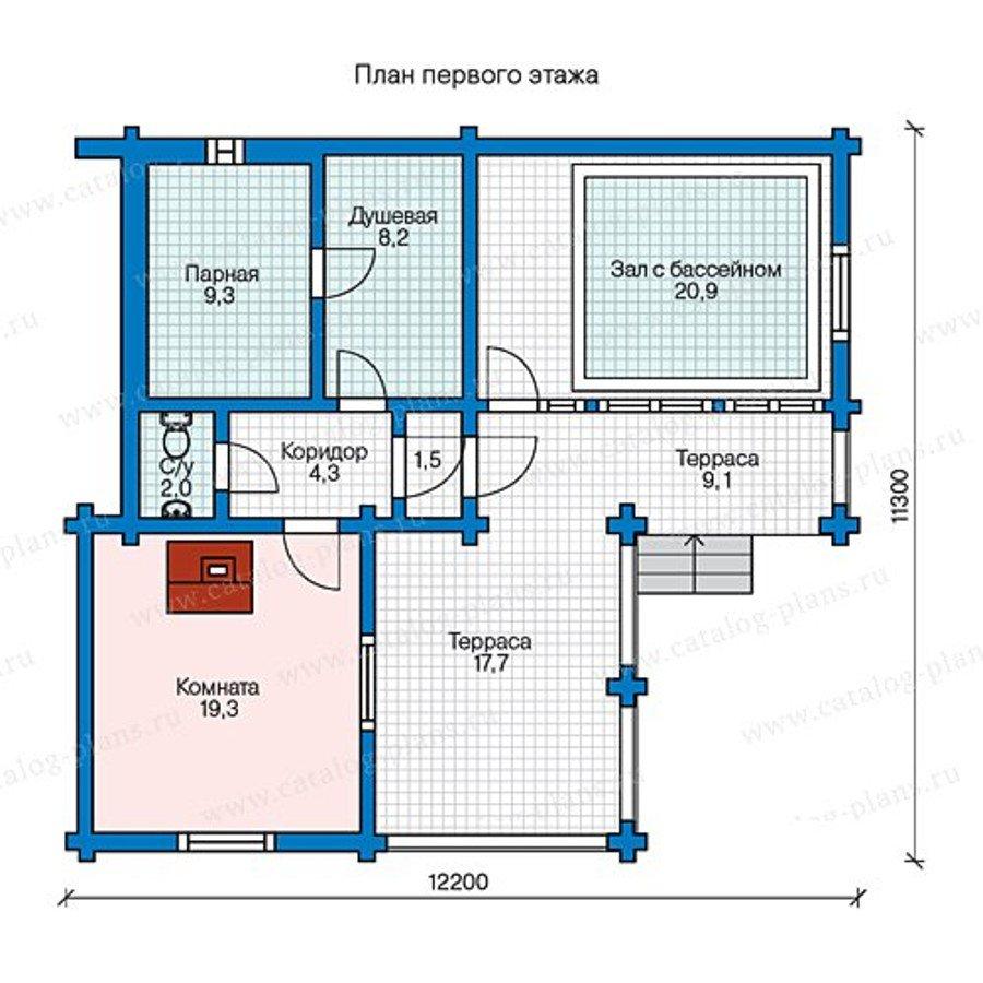 План 1-этажа проекта 13-54