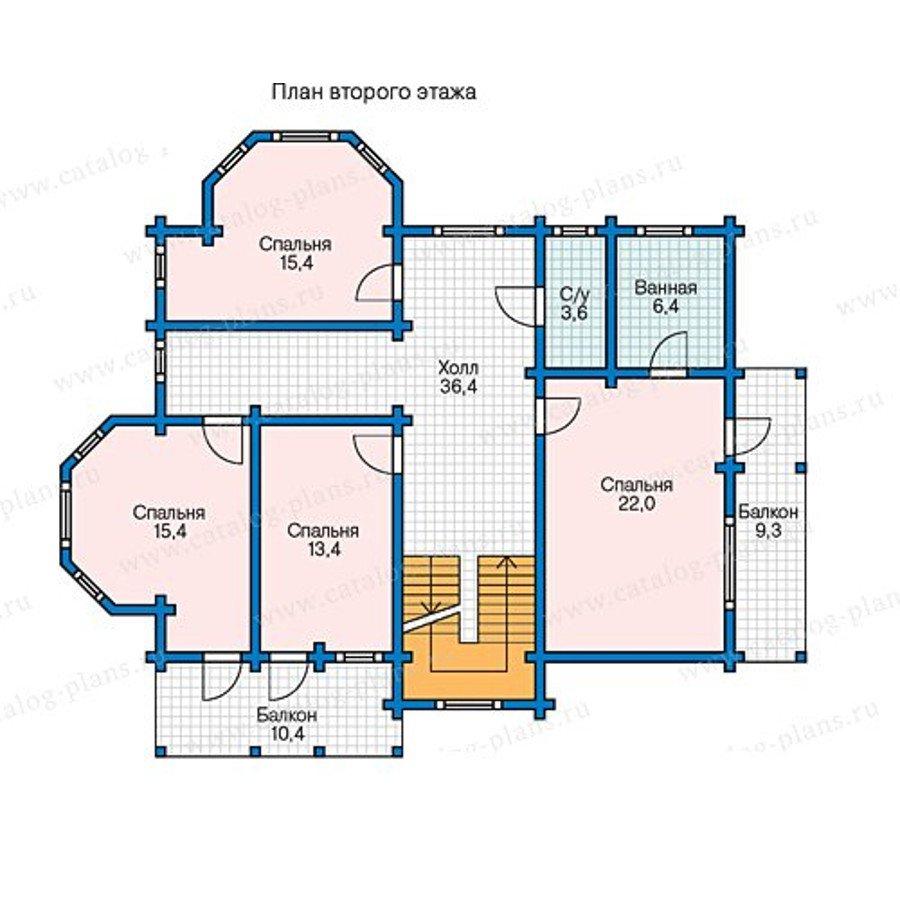 План 2-этажа проекта 13-40