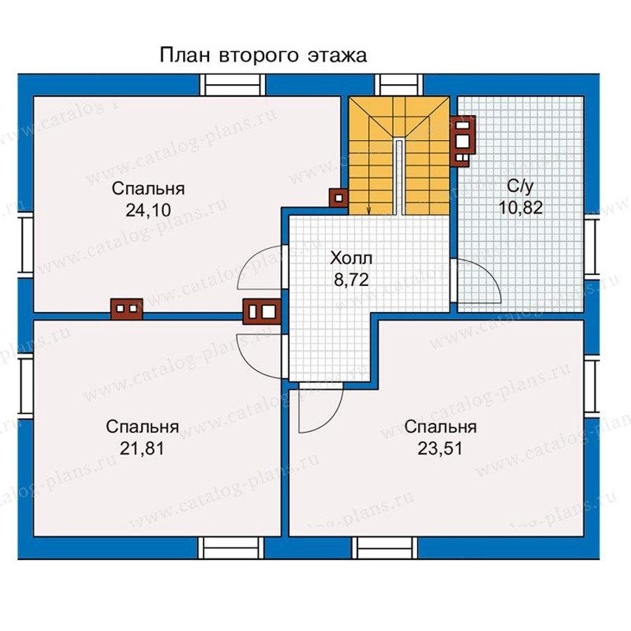 План 2-этажа проекта 56-99K