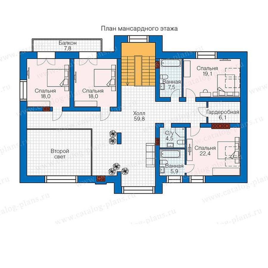 План 2-этажа проекта 48-33G