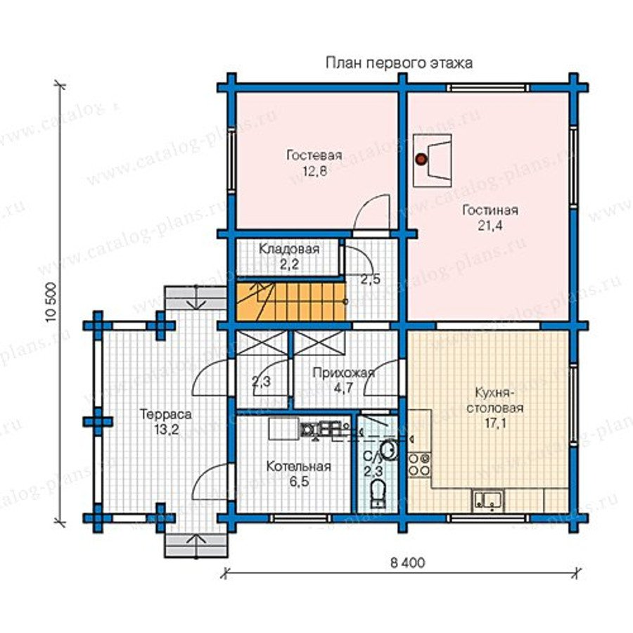 План 1-этажа проекта 13-32