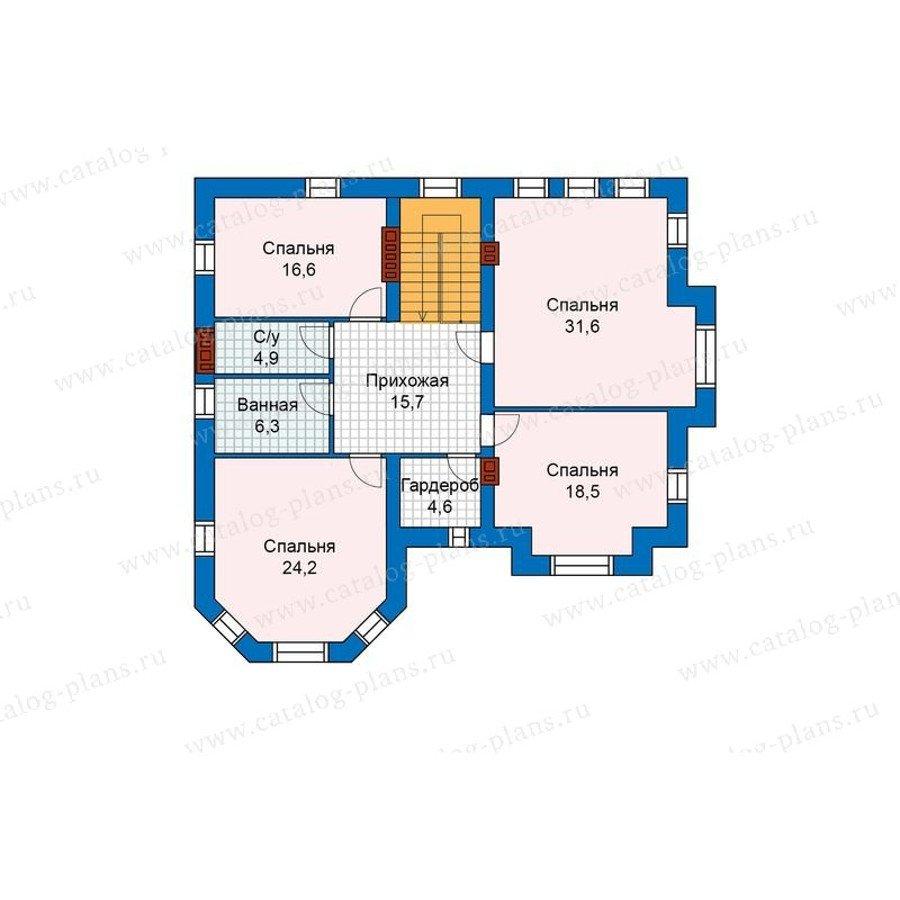 План 2-этажа проекта 48-29G