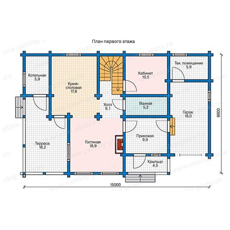 План 1-этажа проекта 13-41