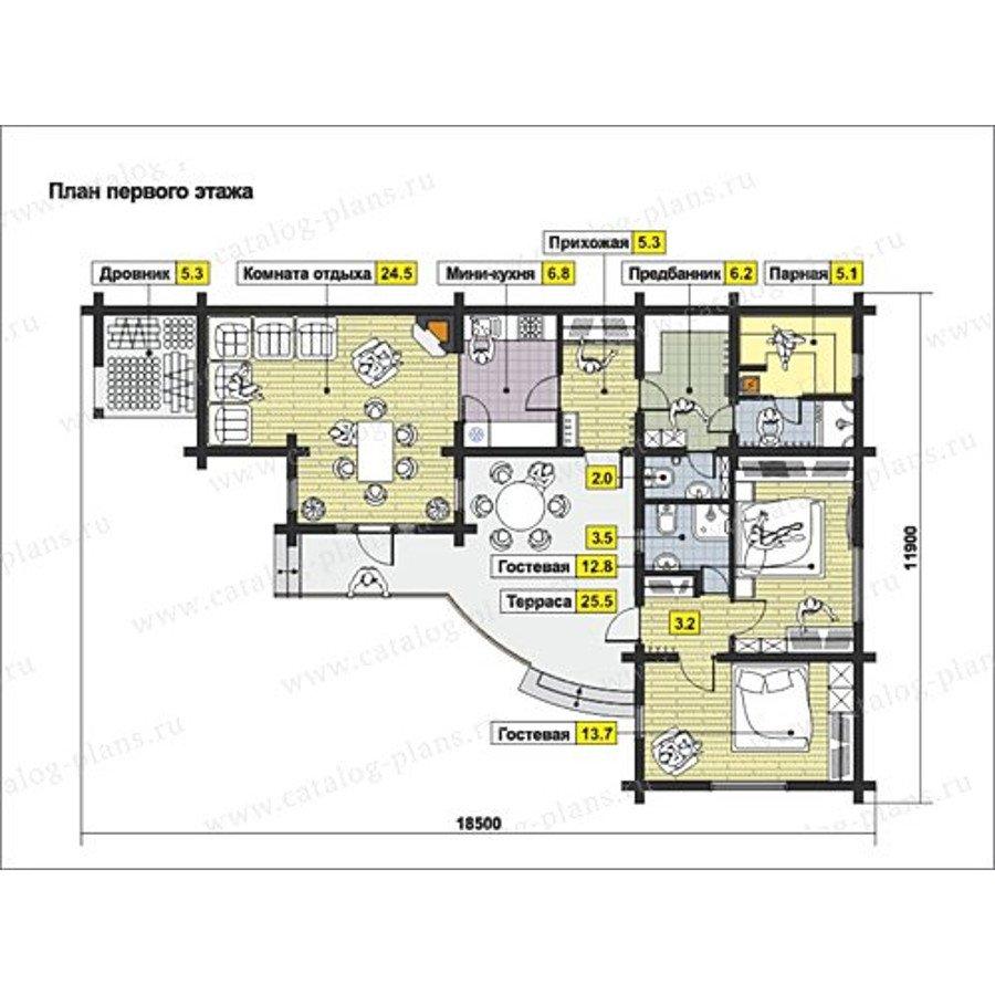 План 1-этажа проекта 13-24
