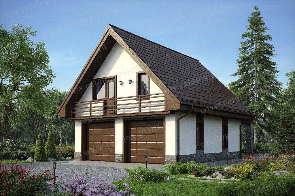 Проект жилой дом #48-18G материал - газобетон, стиль минимализм