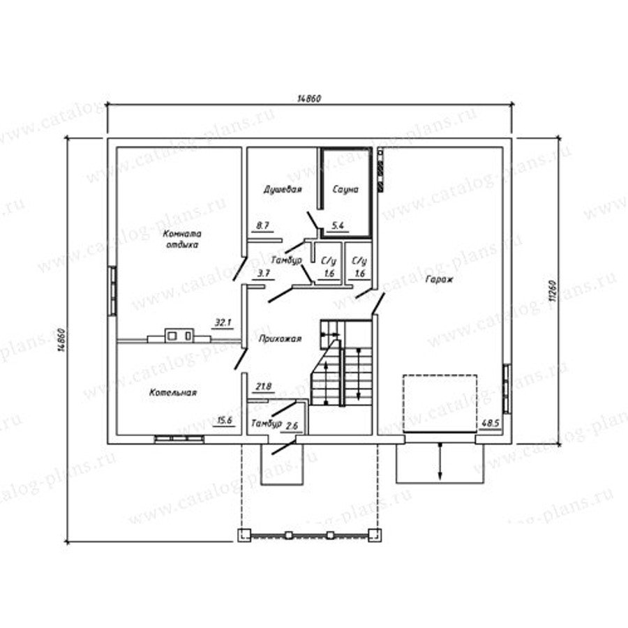 План 1-этажа проекта 13-27