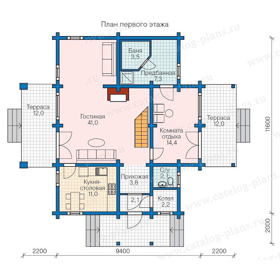 План 1-этажа проекта 13-57