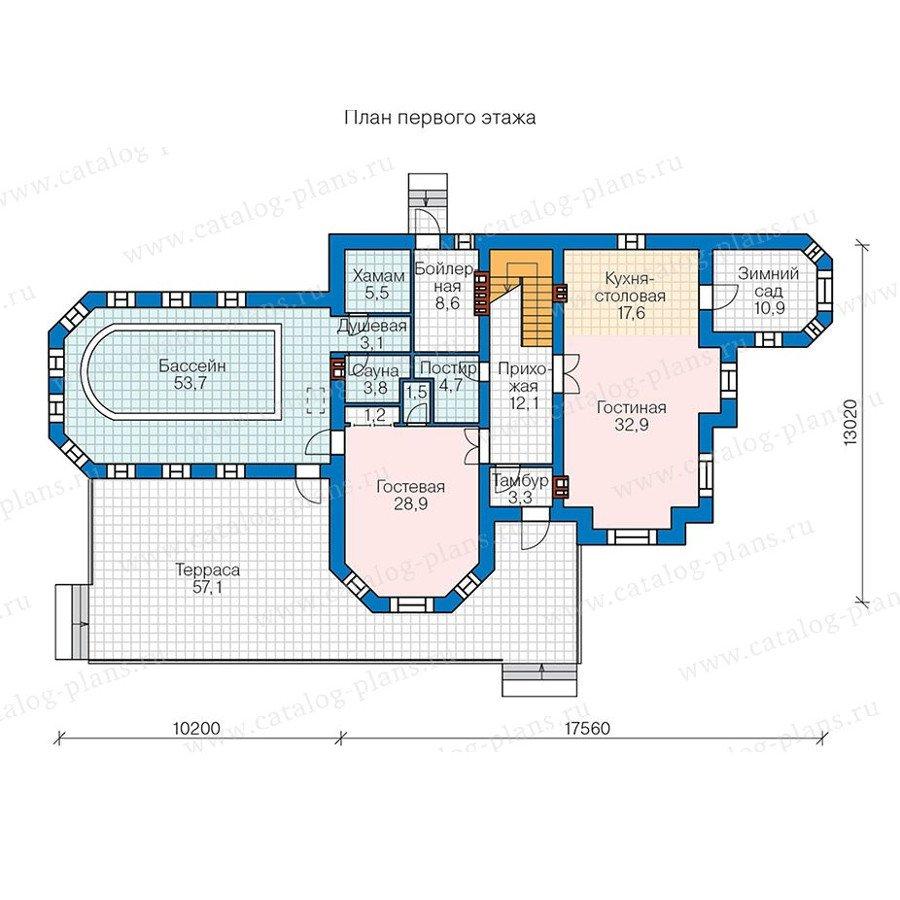 План 1-этажа проекта 48-29AG