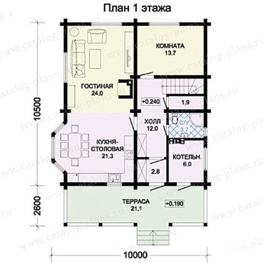 План 1-этажа проекта 13-36