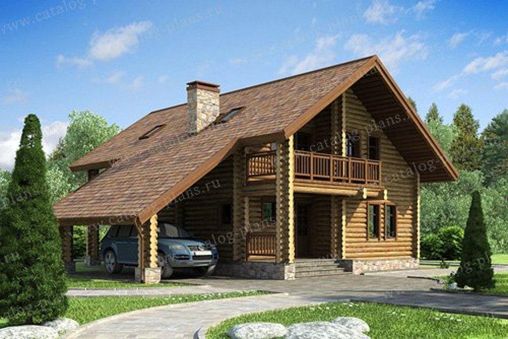 Проект жилой дом #13-23 материал - дерево, стиль скандинавский
