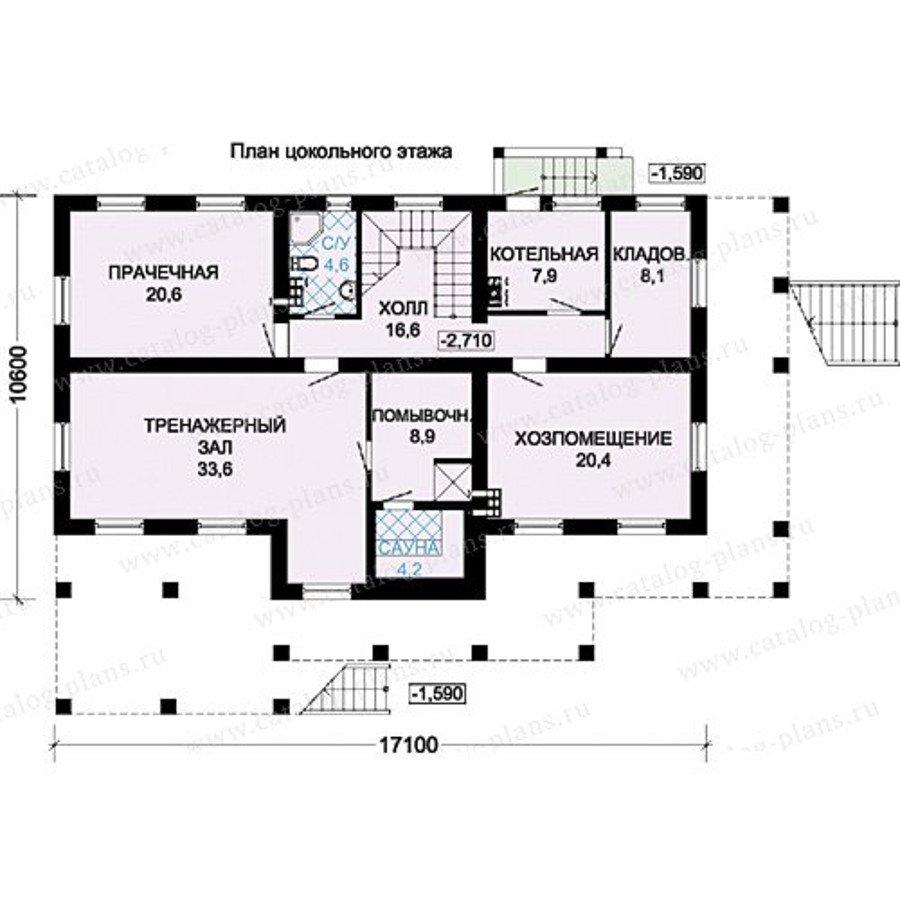 План 1-этажа проекта 13-35